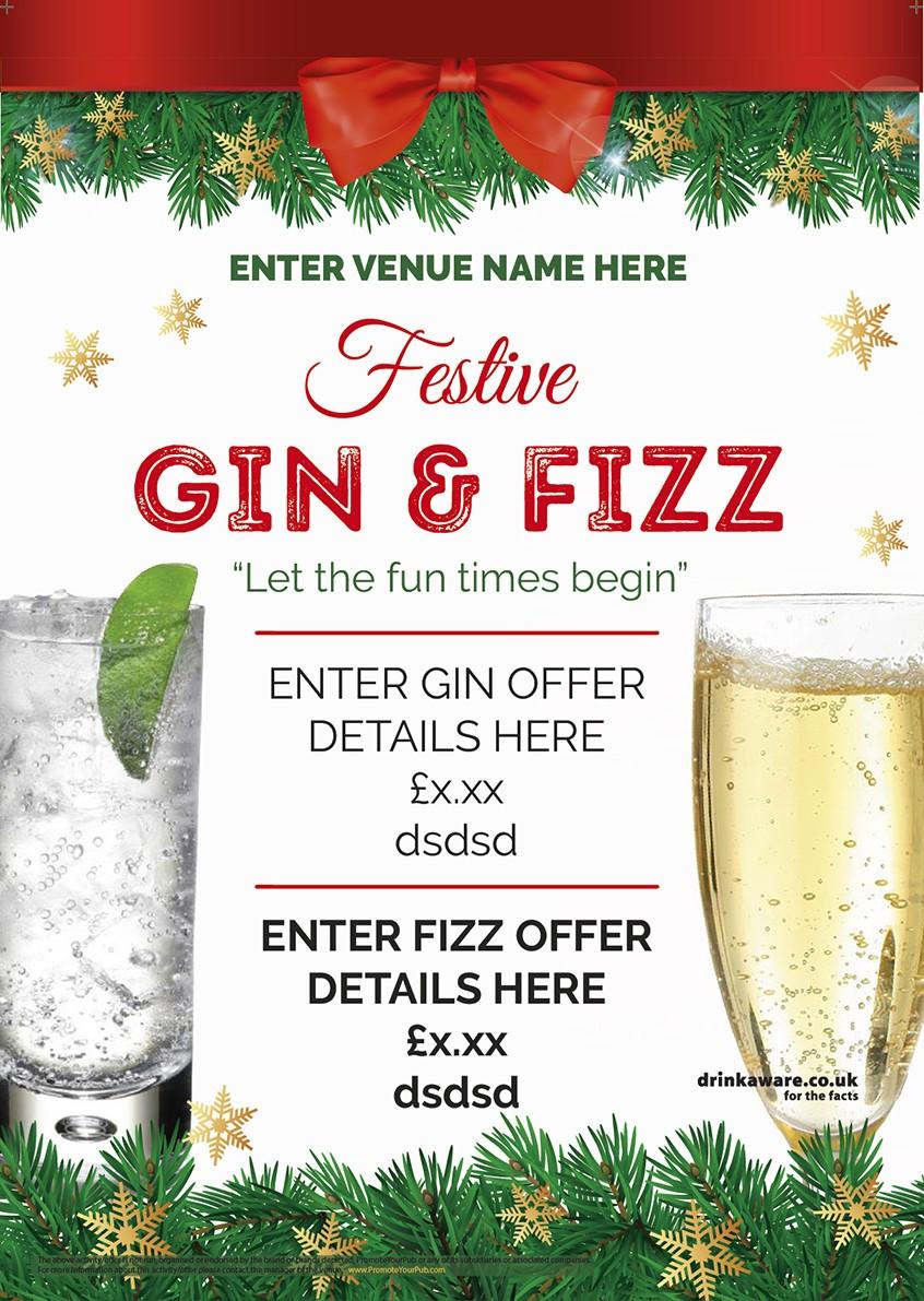 Christmas Gin & Fizz Flyer (A5)