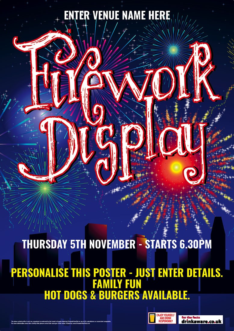 Firework Night Poster (A4)