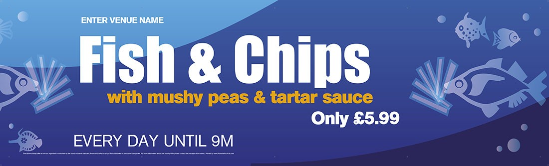 Fish & Chips Banner (Lrg)