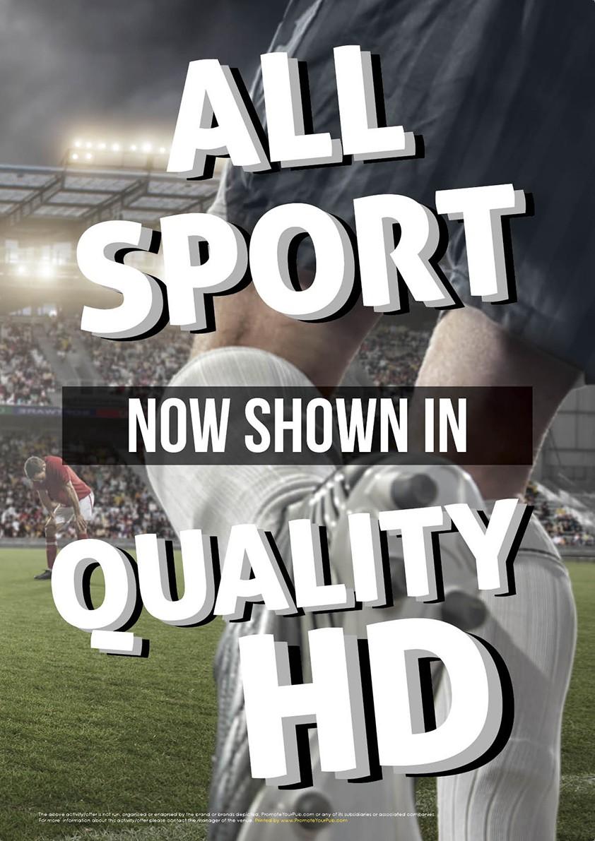 Sport Shown in HD v2 Poster