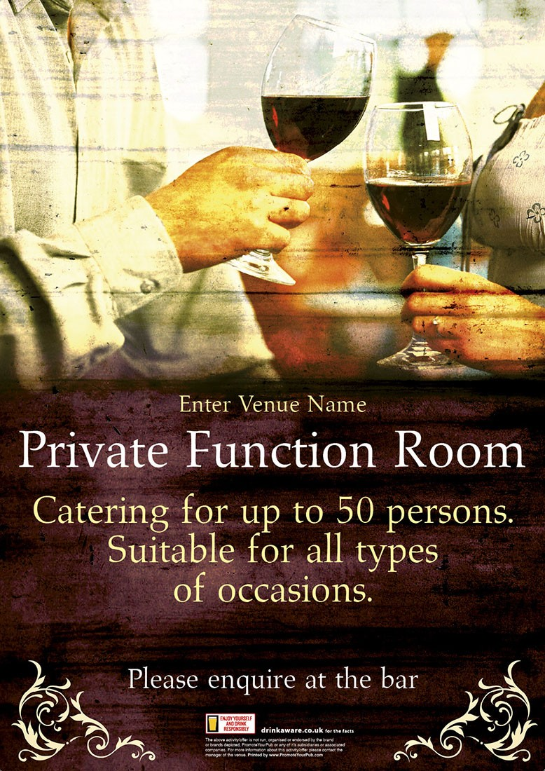 Function Room Poster (A4)