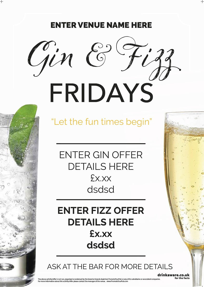 Gin & Fizz Flyer (photo) (A5)