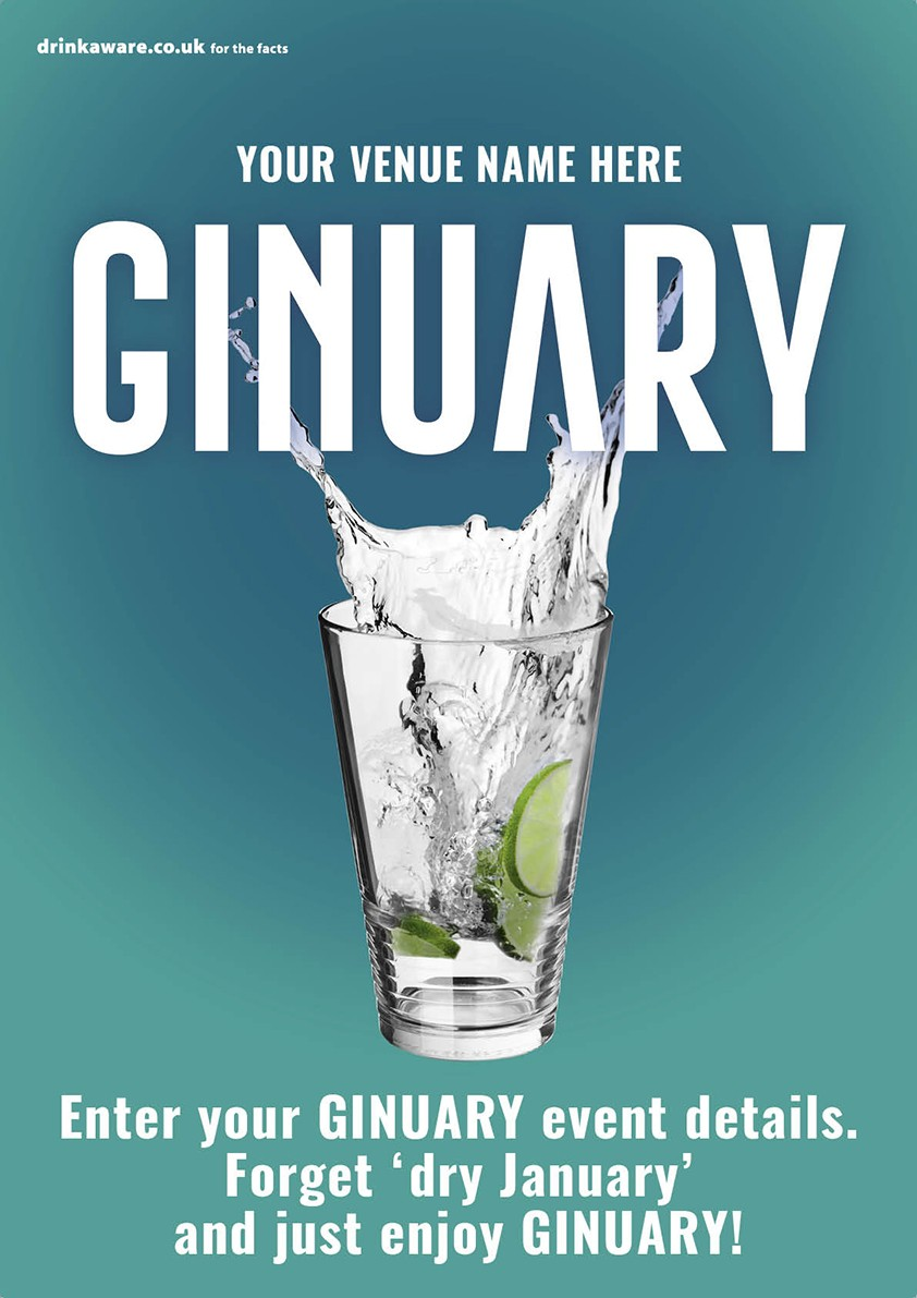Ginuary option1 Poster (A4)