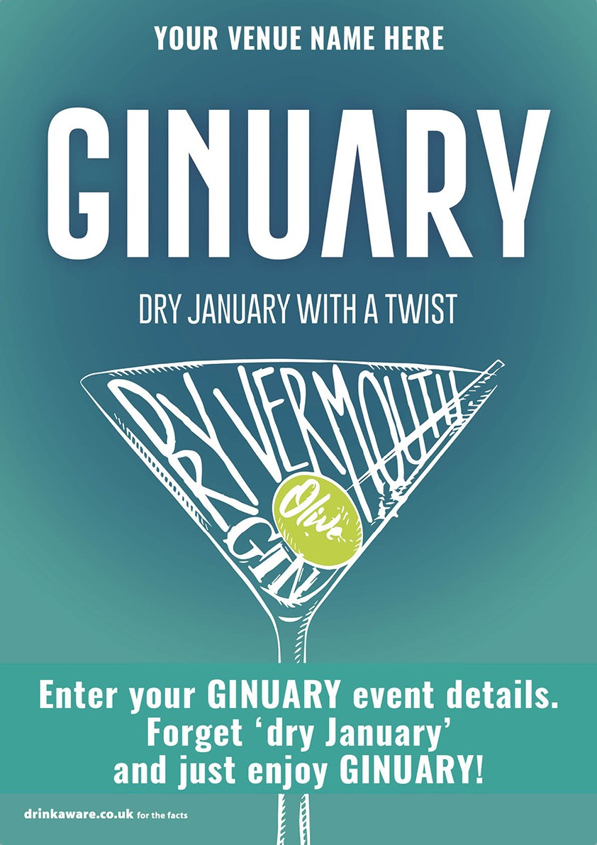 Ginuary option2 Poster (A3)