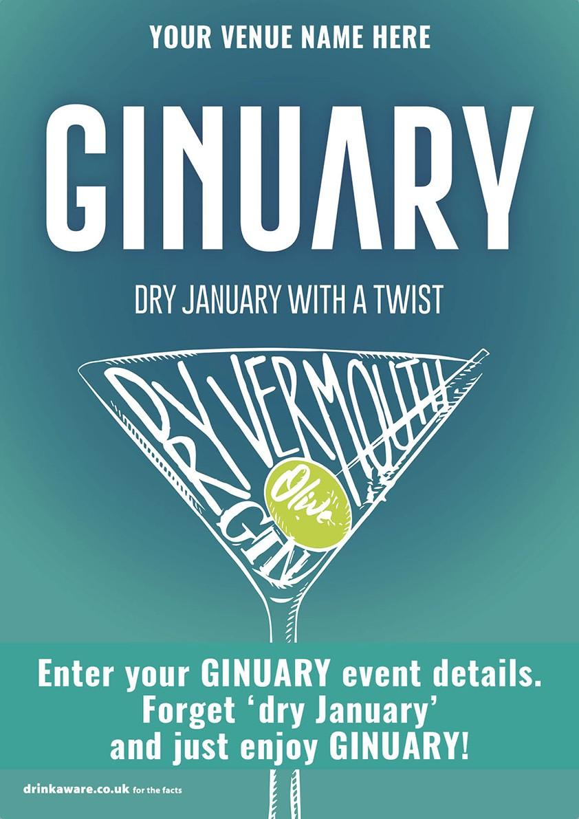 Ginuary option2 Flyer (A5)
