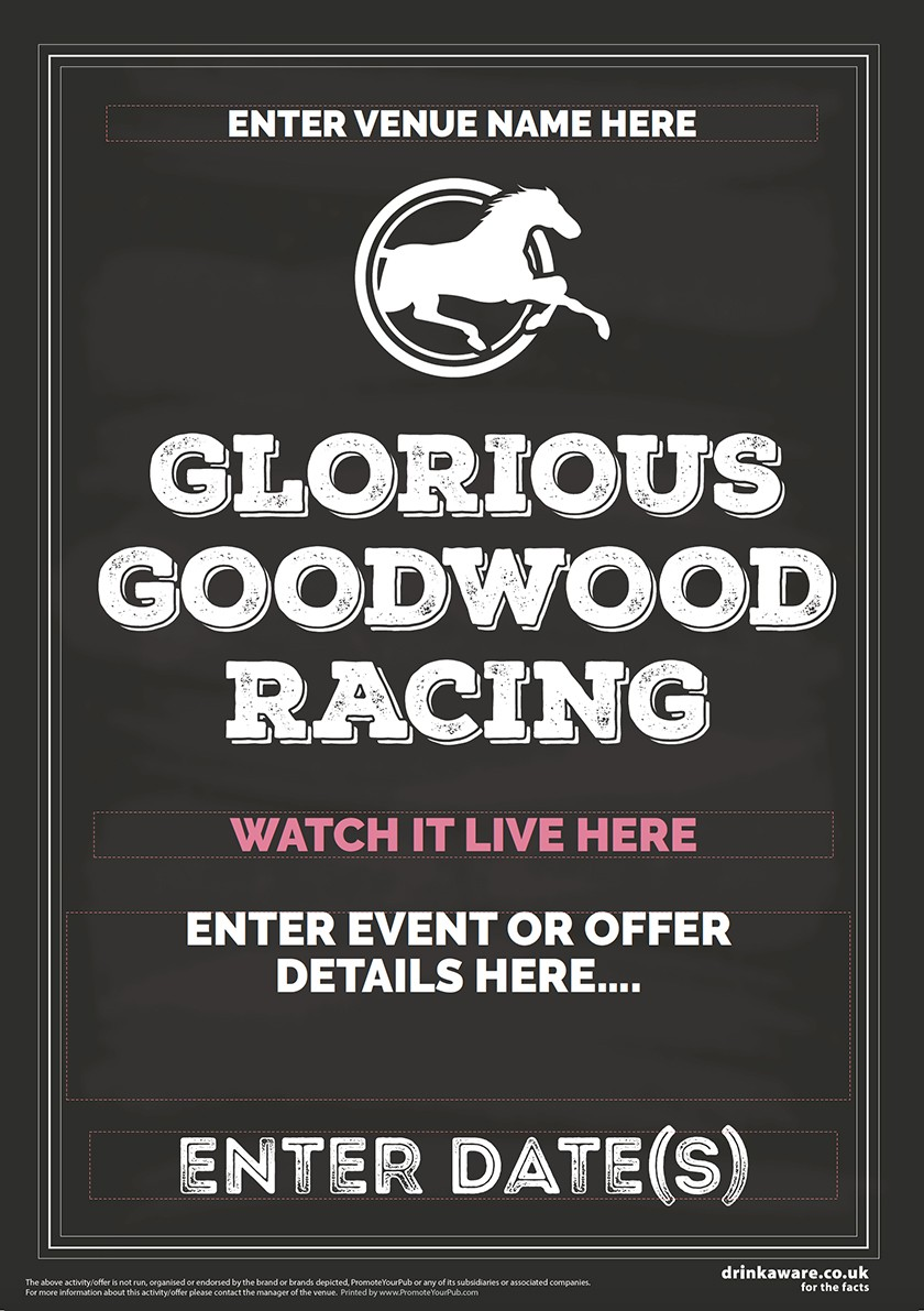 Goodwood Horse Racing (Chalk) Flyer (A5)