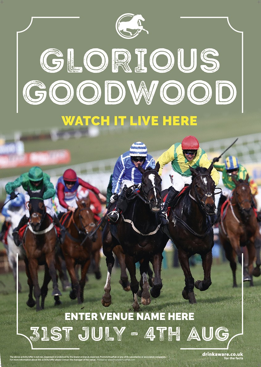 Goodwood Horse Racing (Photo) Flyer (A5)