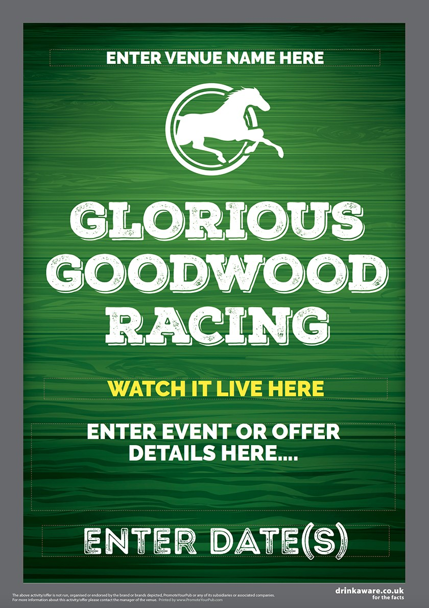 Goodwood Horse Racing (green) Flyer (A5)