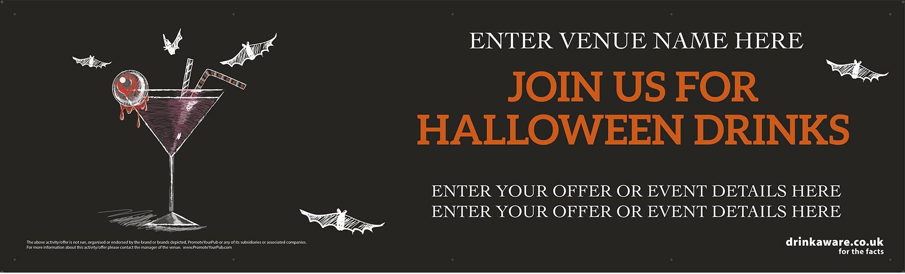 Halloween Cocktails Banner