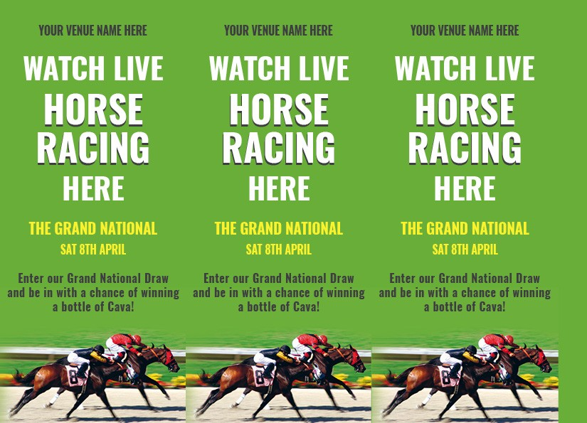 Grand National 3 Sided Table Talker (10 per pack)