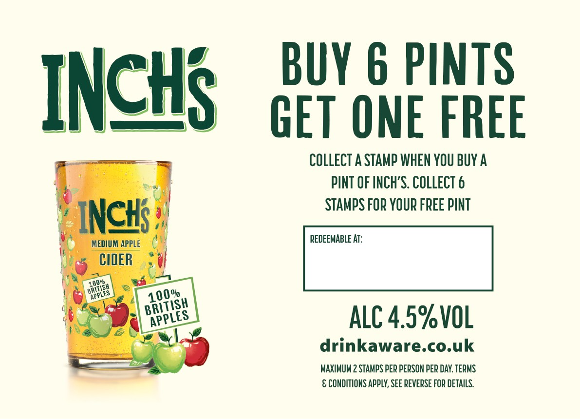 Inch's Cider Collector Cards (200 per bundle) (incl' card stamp)