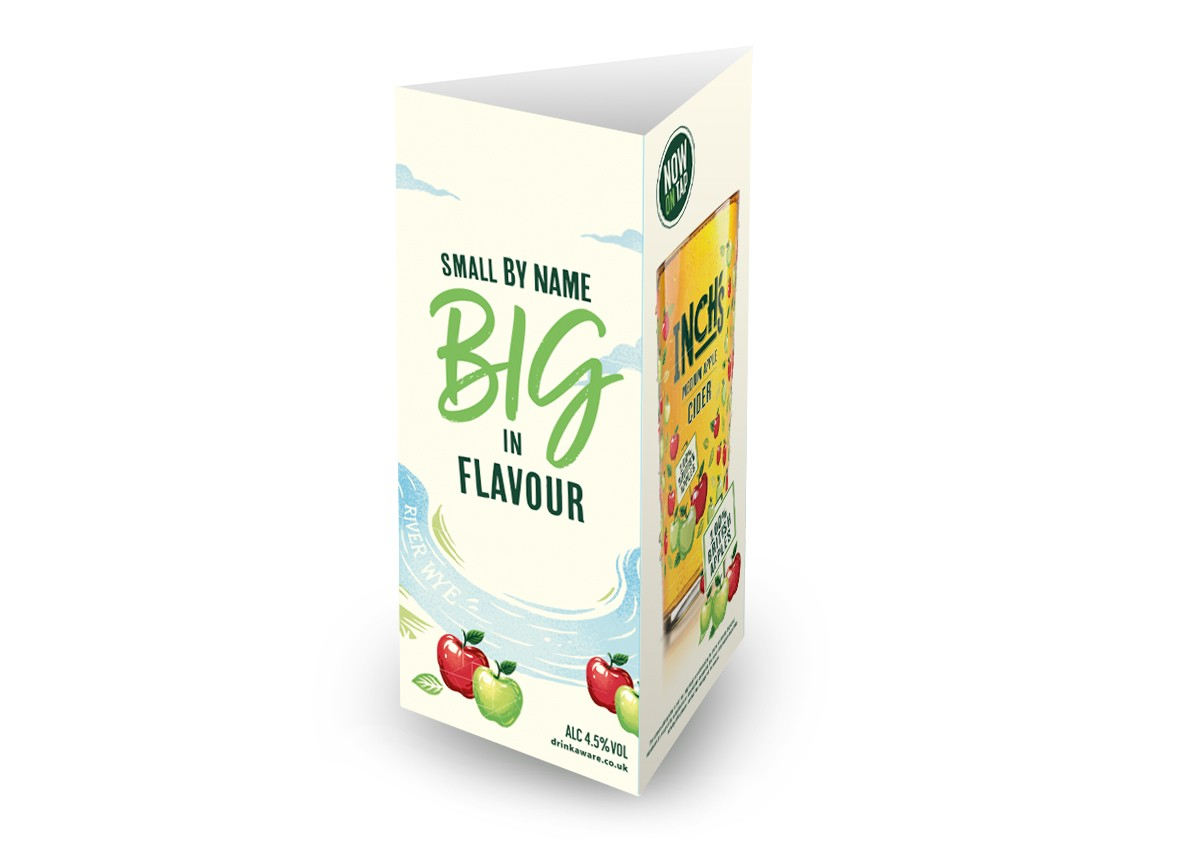Inch's Cider Generic 3 Sided Table Talker (10 per pack)