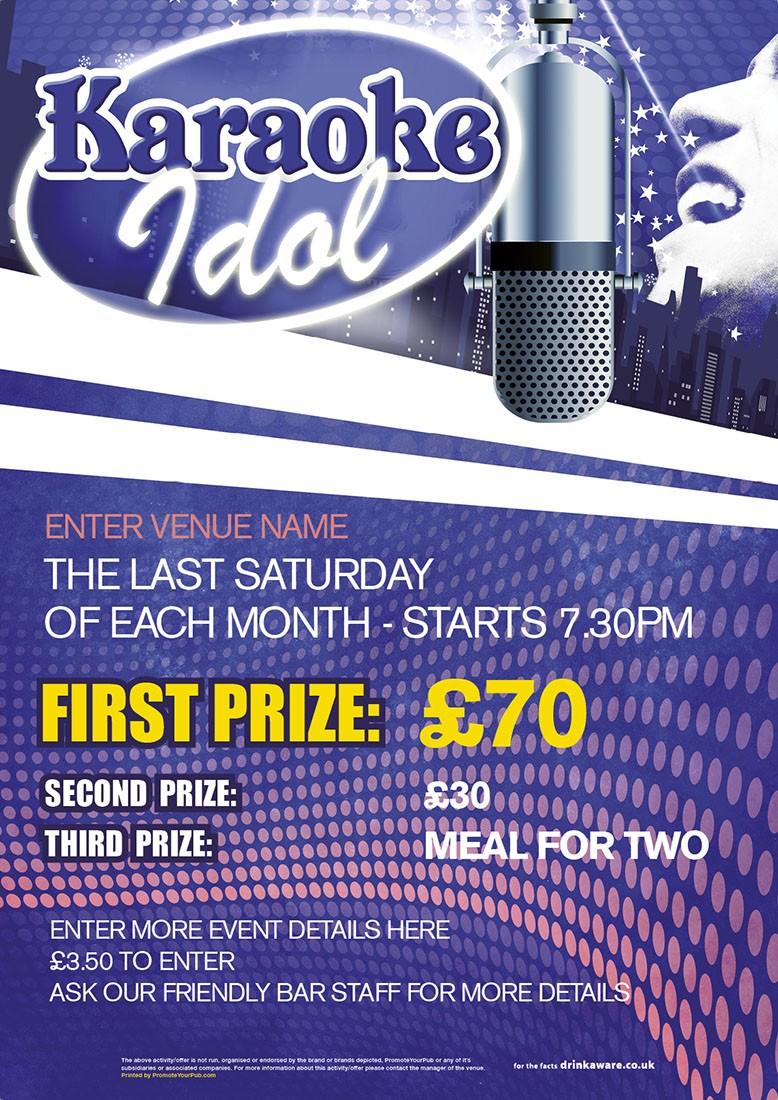Karaoke Idol Poster (A4)