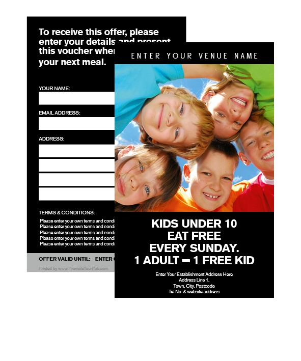 Kids eat Free Voucher