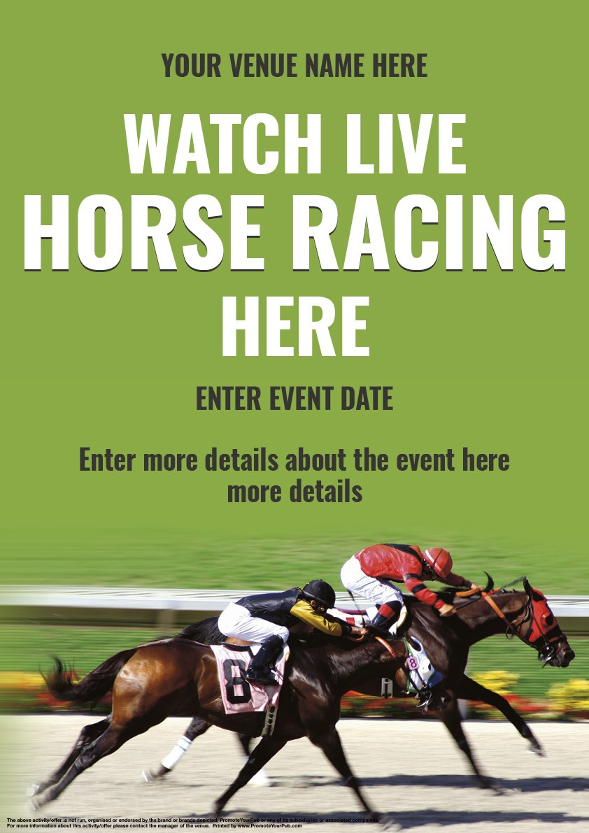 Watch Horse Racing Poster (A3)