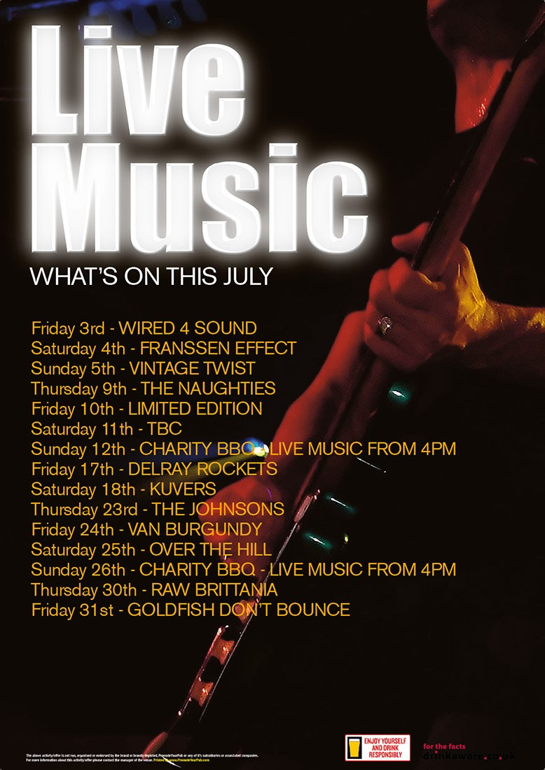 What's On Music Poster (A4)