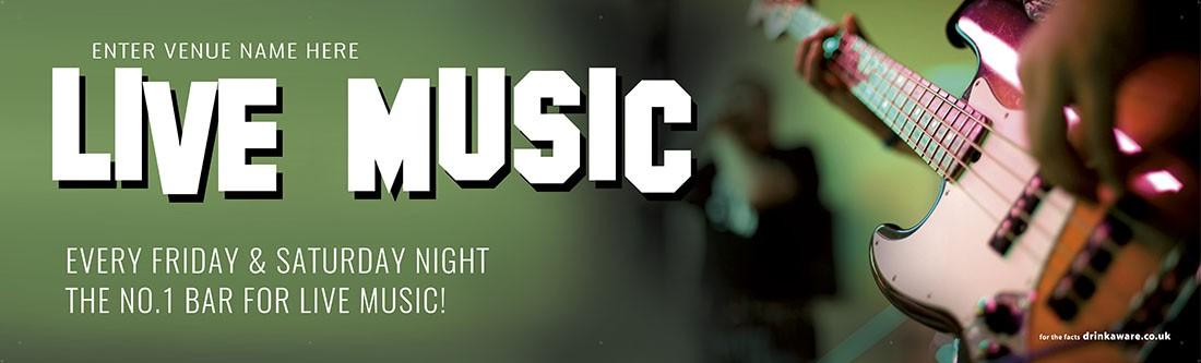 Live Music Here Banner (Lrg)