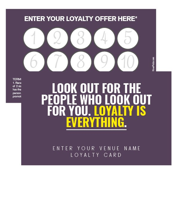 Look After Your Customers Loyalty Card