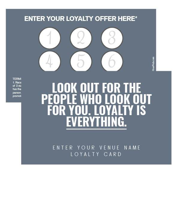 Look Out Loyalty Card