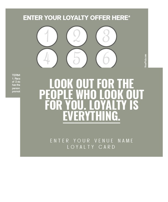 Loyalty Is Everything Card