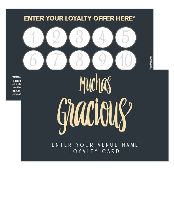 Muchas Gracious Loyalty Card