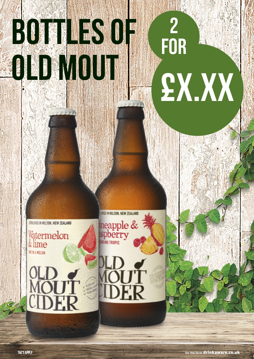 Old mout '2 for £X' Poster