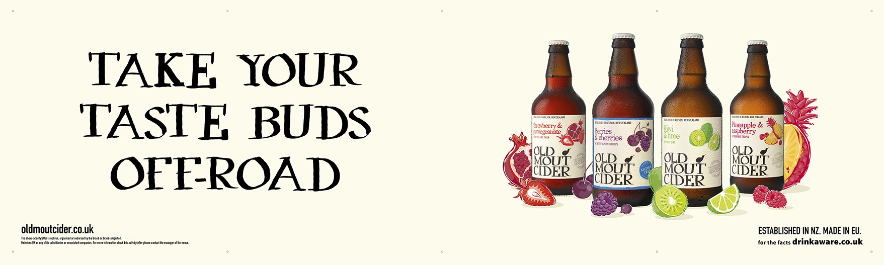 Old Mout Cider Generic Banner (4 bottles)