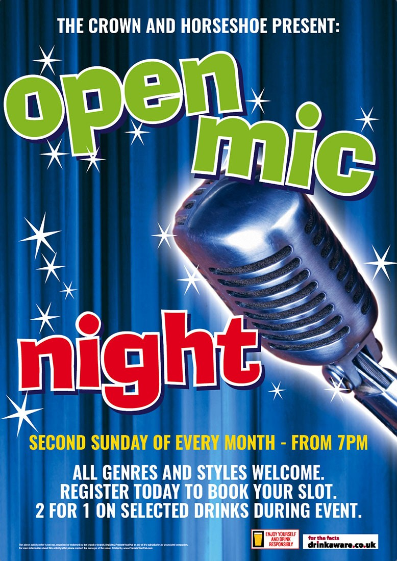 Open Mic Night Poster (A4)