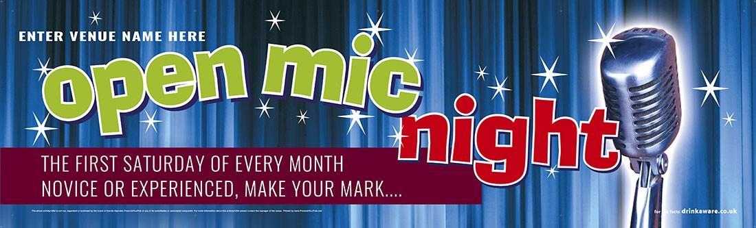 Open Mic Night Banner (XL10')