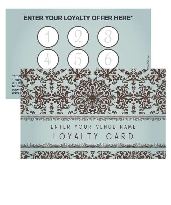 Patterned Loyalty Card