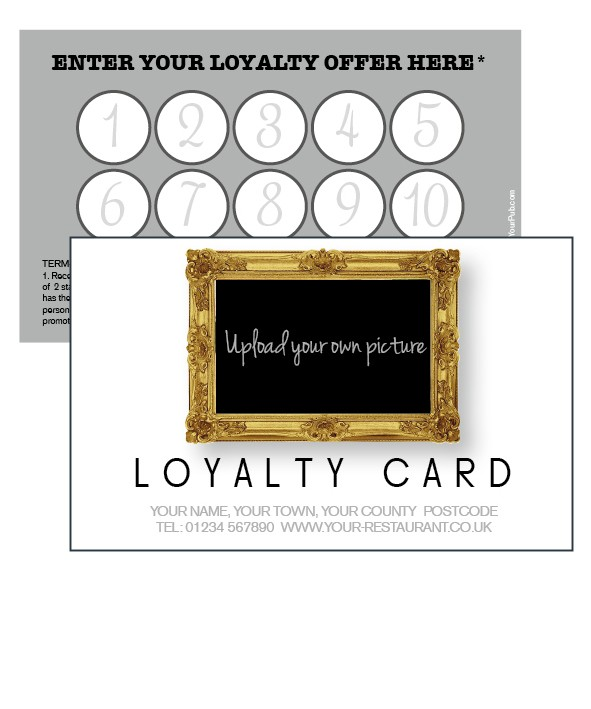 Picture In A frame loyalty card