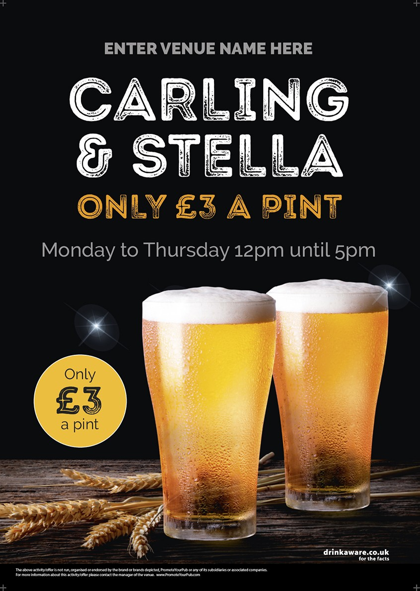 Pint Offer Poster (photo) (A2)