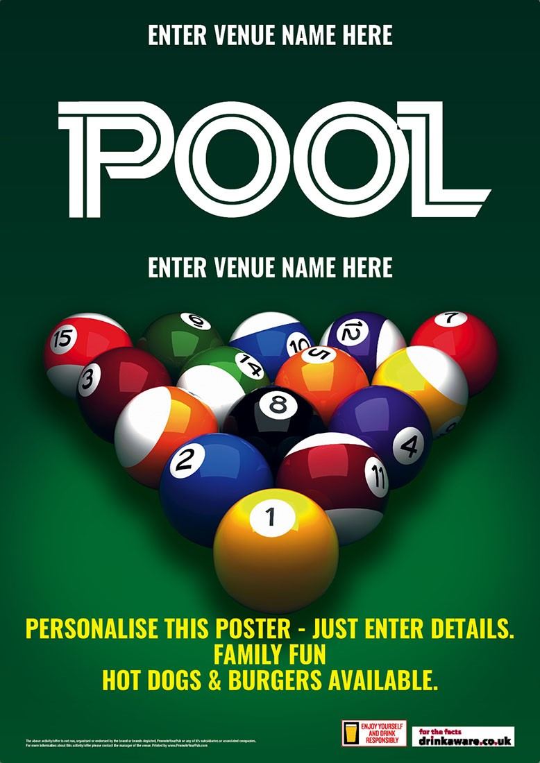 Pool Available Here Poster (A3)