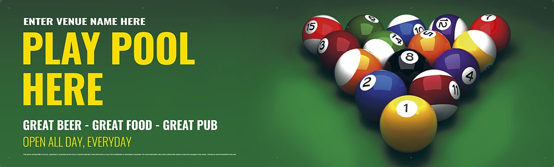 Play Pool Banner (XL10')