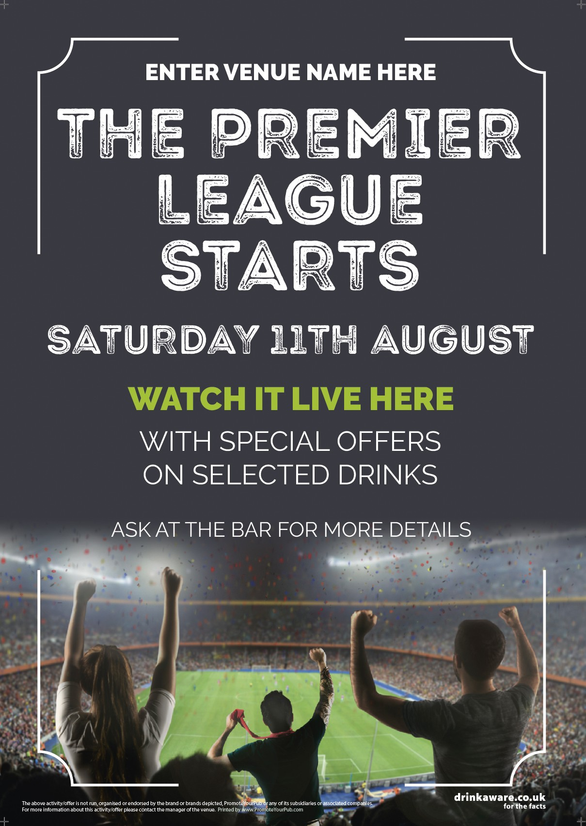 The Premier League Starts Flyer (photo) (A5)