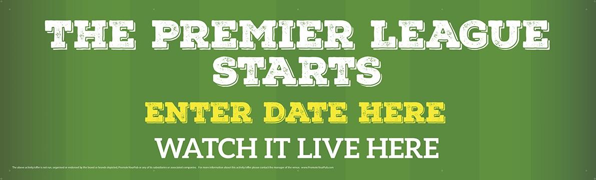 The Premier League Starts Banner (Lrg)