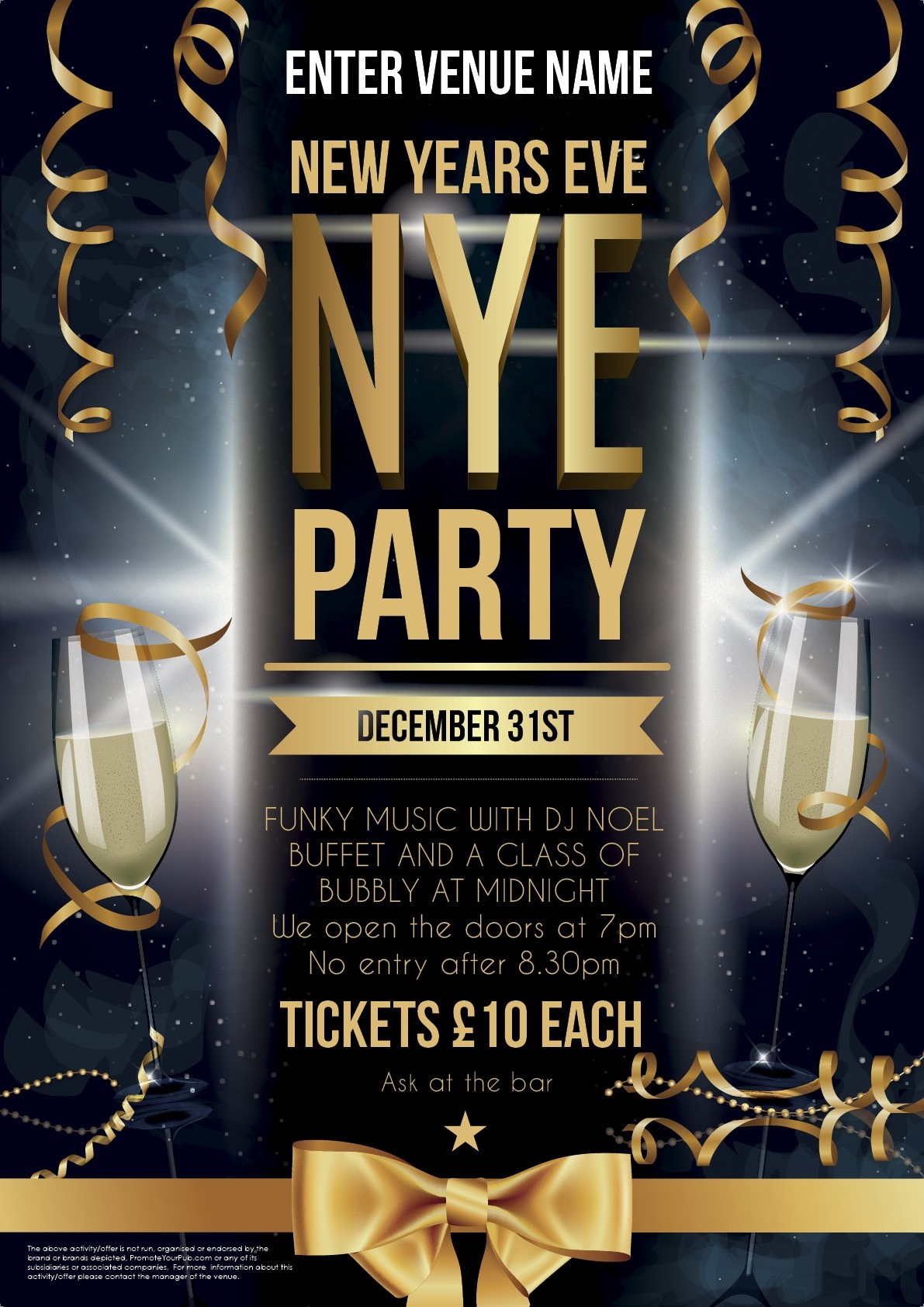 New Years Poster Promote Your Pub