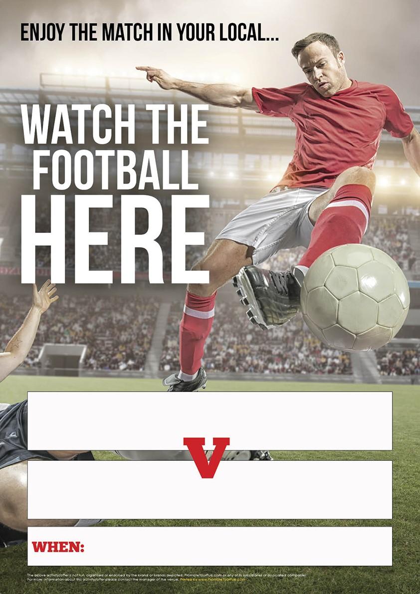 Enjoy the Football Empty Belly Poster