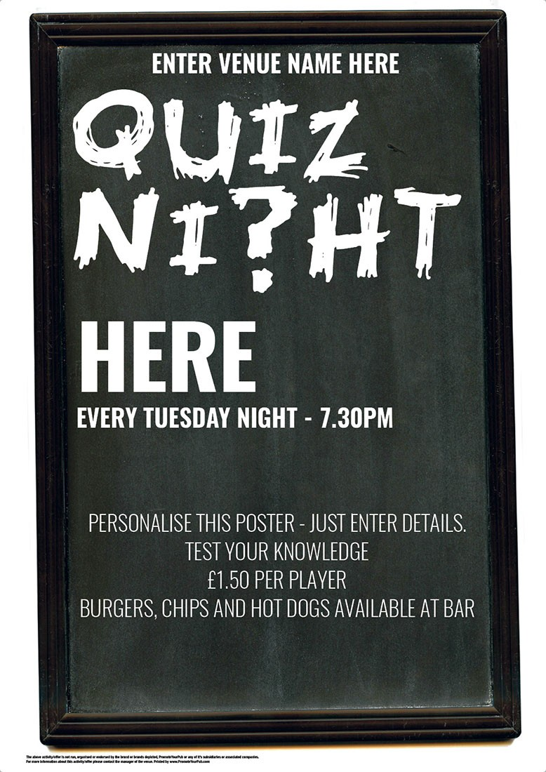 Quiz Poster (chalkboard theme)