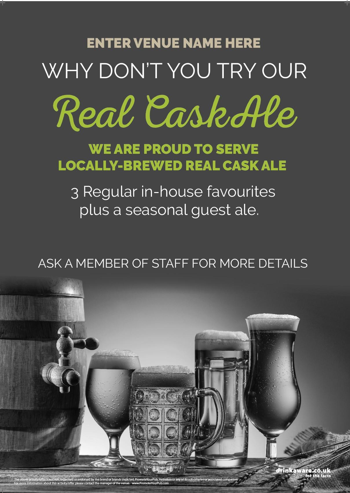 Real Cask Ale Flyer (photo v1) (A5)