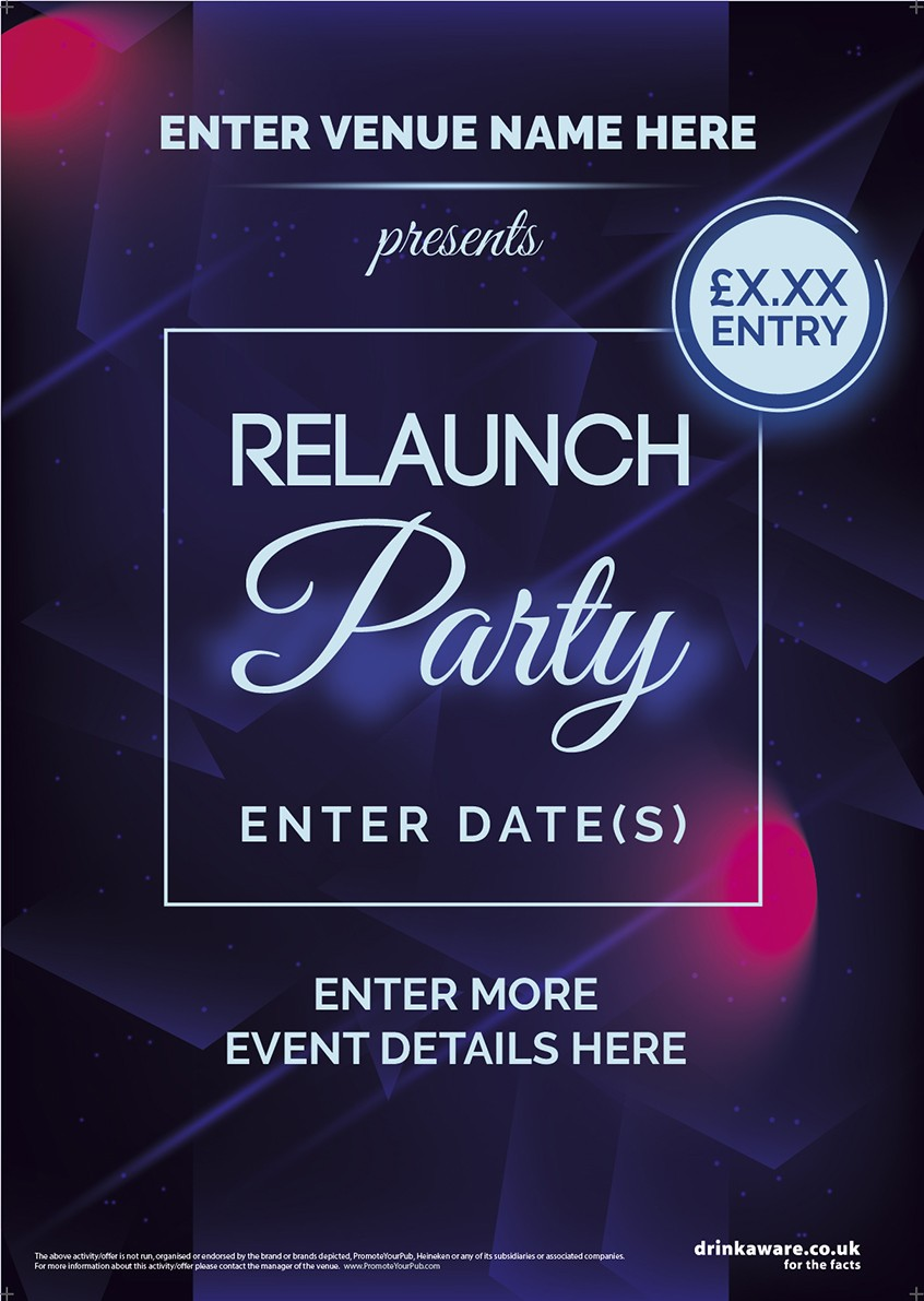 Relaunch Party Flyer (A5)