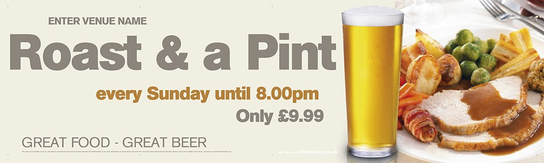 Roast & a Pint Banner (XL10')
