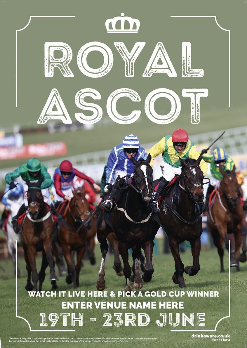 Royal Ascot Racing (photo) Poster (A4)