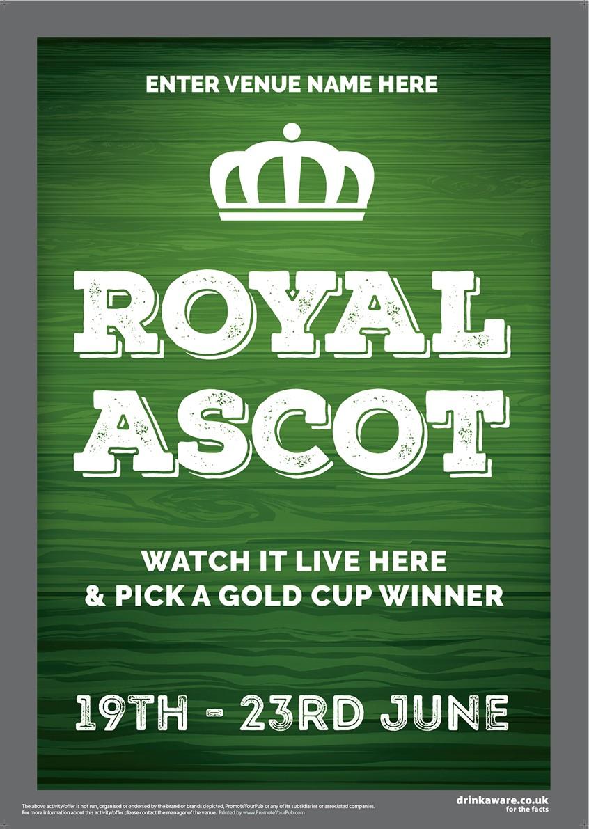 Royal Ascot Racing (green) Poster (A3)
