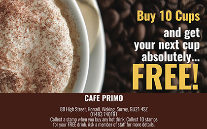 Cafe Primo Loyalty Card