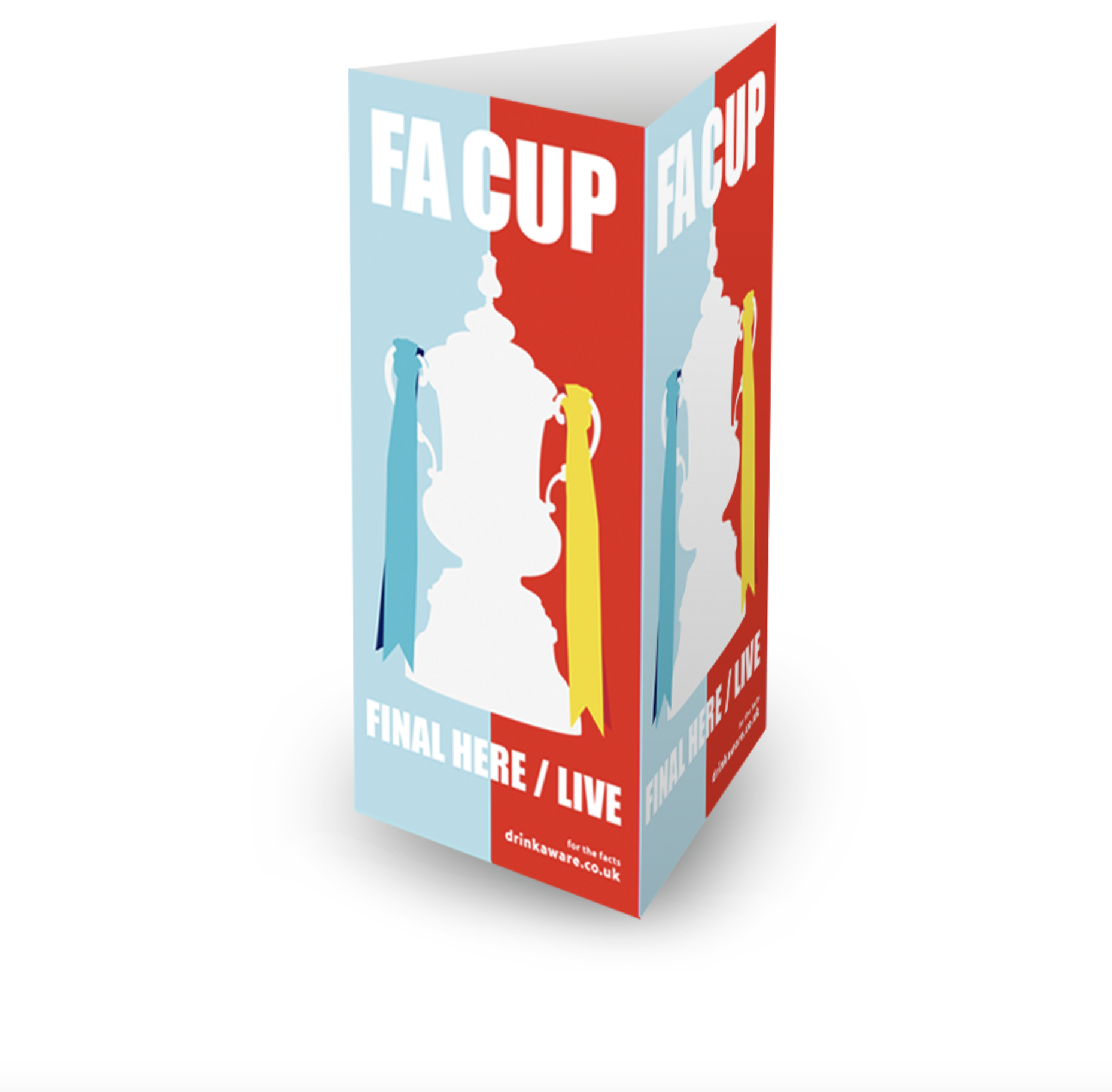 FA Cup Final 3 Sided Table Talker (10 per pack)