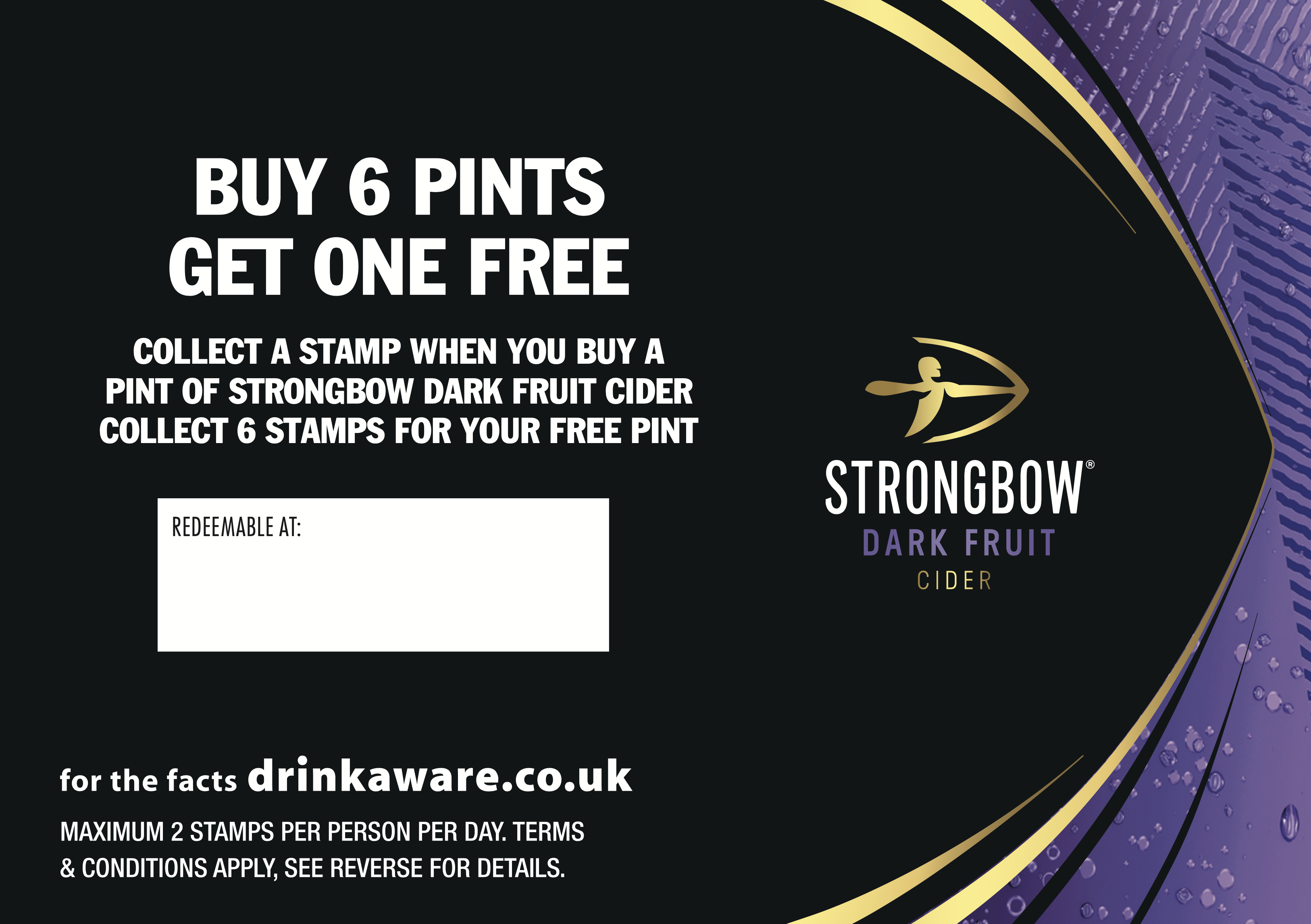 Strongbow dark Collector Cards (200 per bundle) (incl' card stamp)