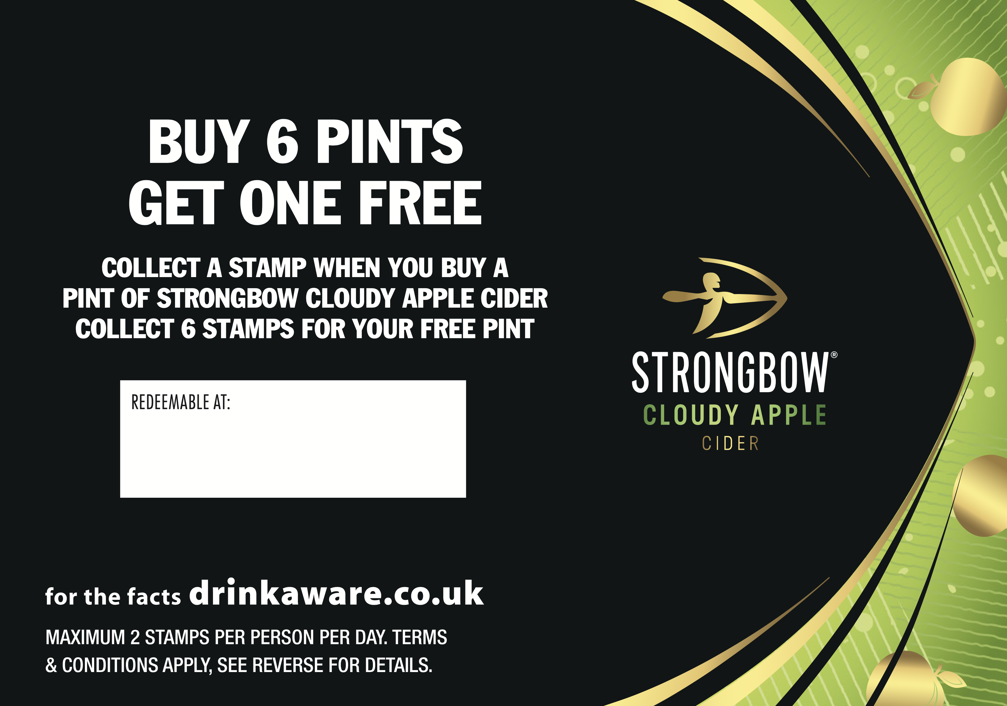 Strongbow Cloudy Collector Cards (200 per bundle) (incl' card stamp)