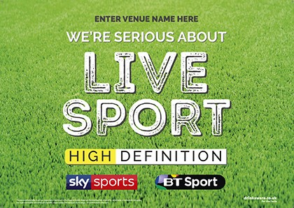 Serious about live sport Outdoor Sign A0L