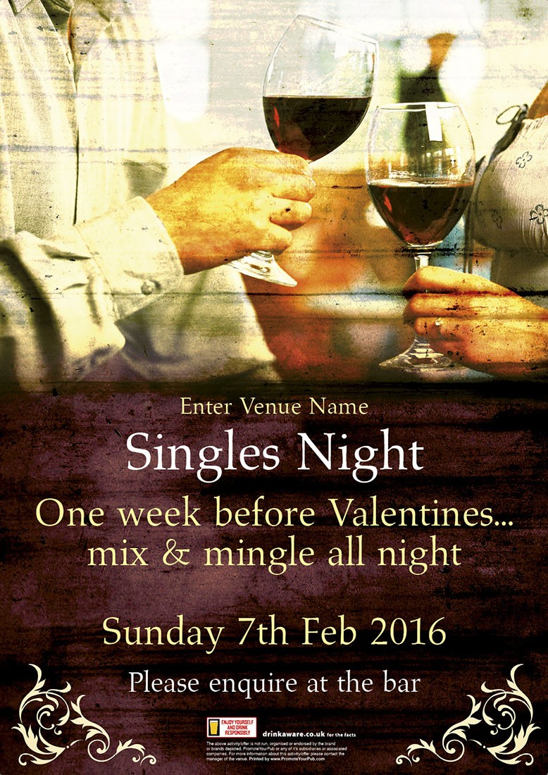 Singles Night Poster (A1)